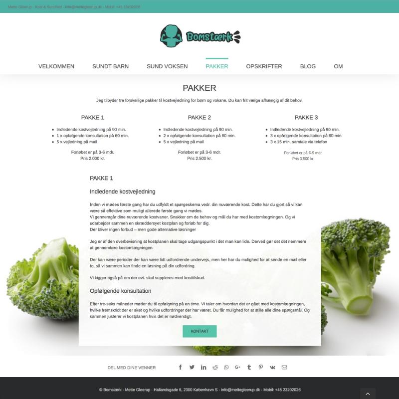 Bomstærk kostvejledning hjemmeside