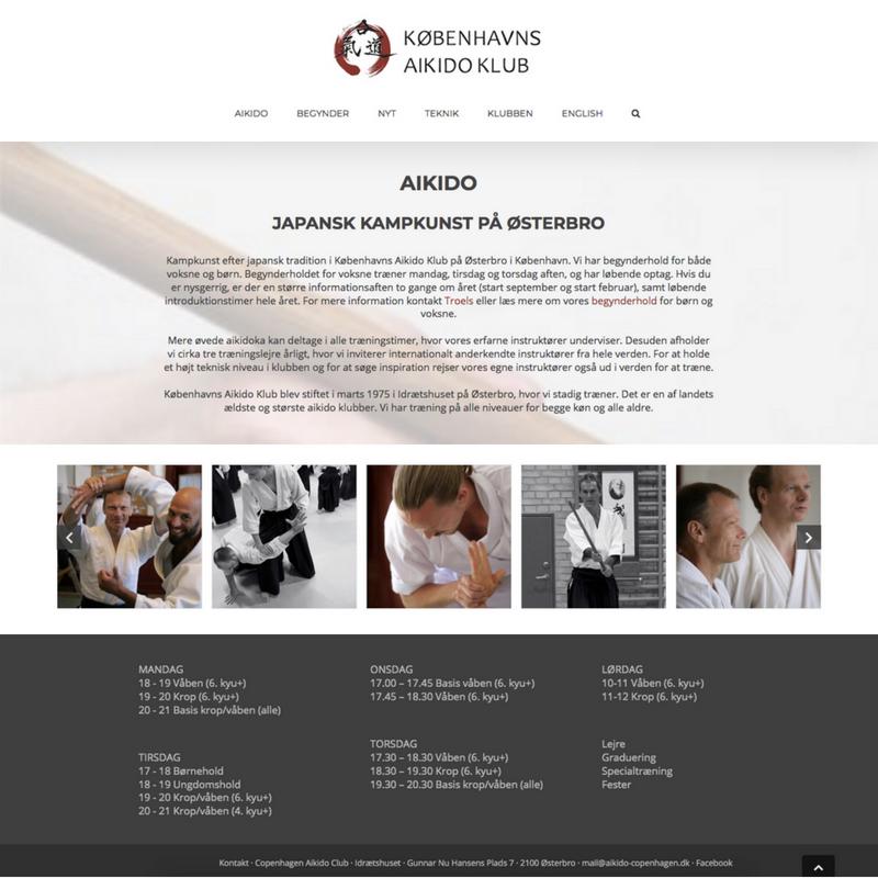 Aikido klub hjemmeside
