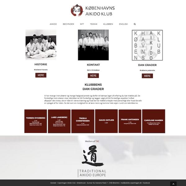 Aikido klub ny hjemmeside