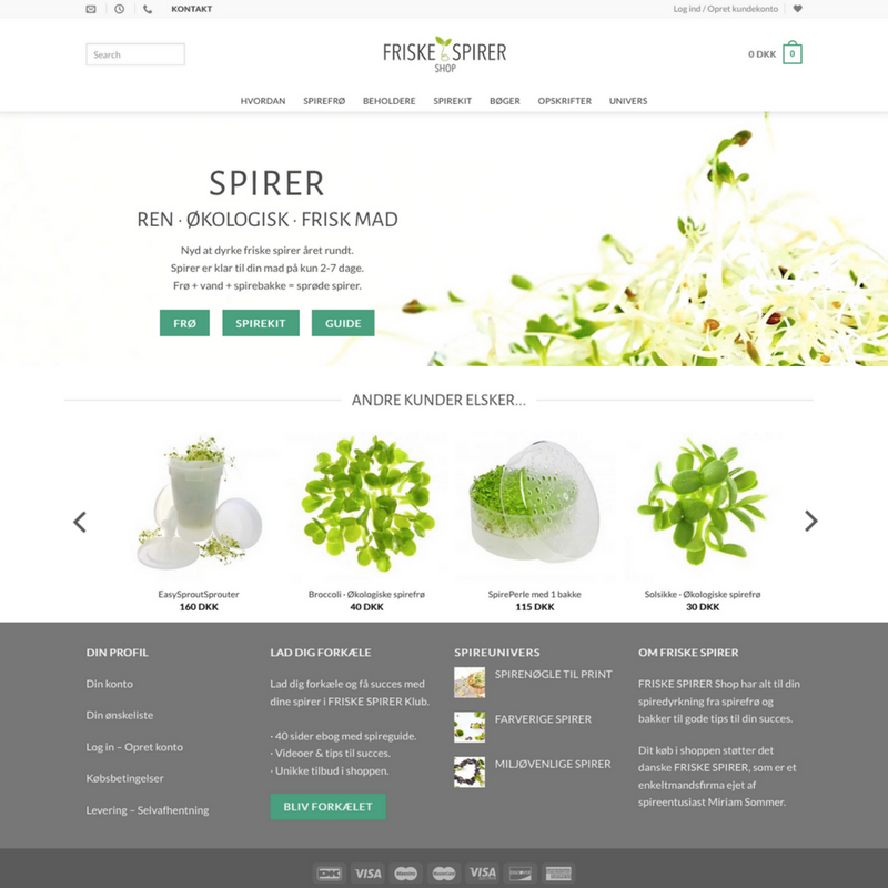 FRISKE SPIRER webshop