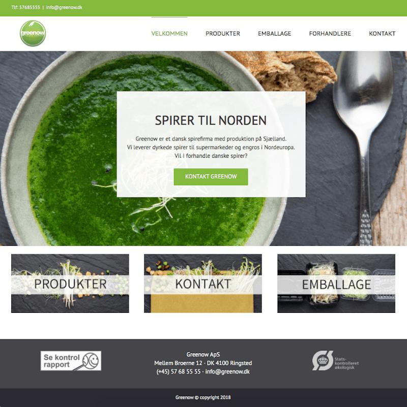 Greenow forside hjemmeside